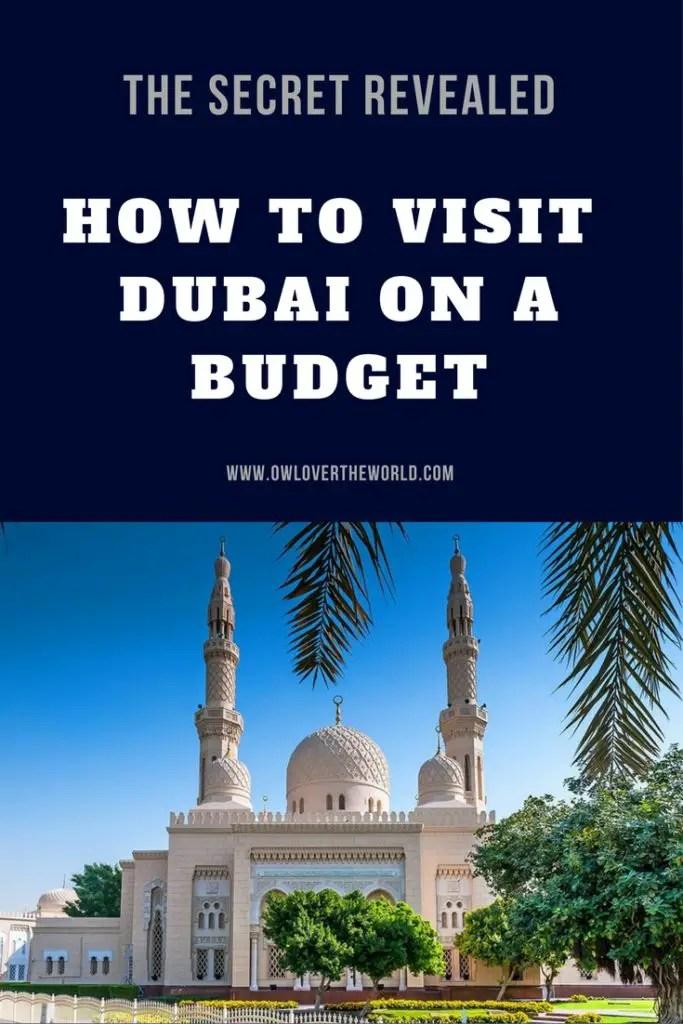 visit dubai budget