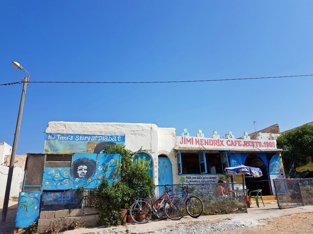 Jimi Hendrix cafe in Essaouira