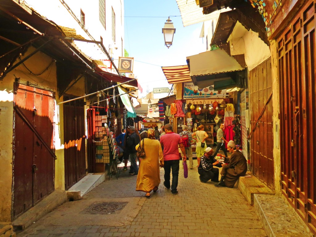 streets of the medina in fes