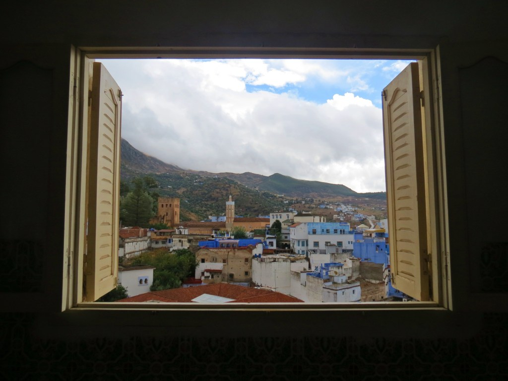 window view in chefchaouen