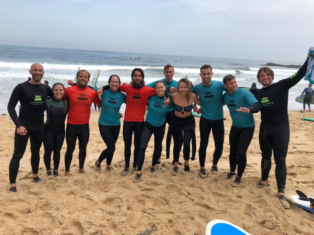 Learning how to surf in Ericeira