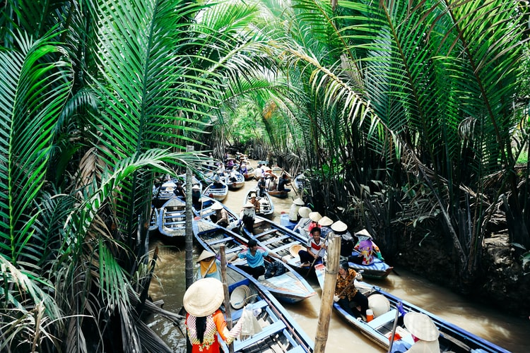 Exploring the Mekong Delta is one of the best things to do in Vietnam in January