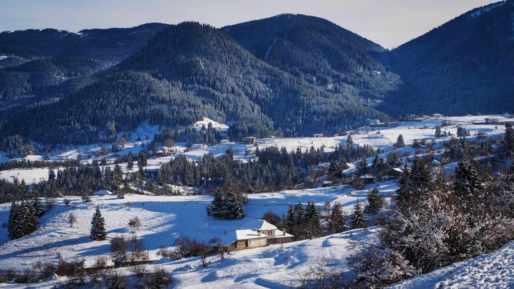 winter in gela village in bulgaria