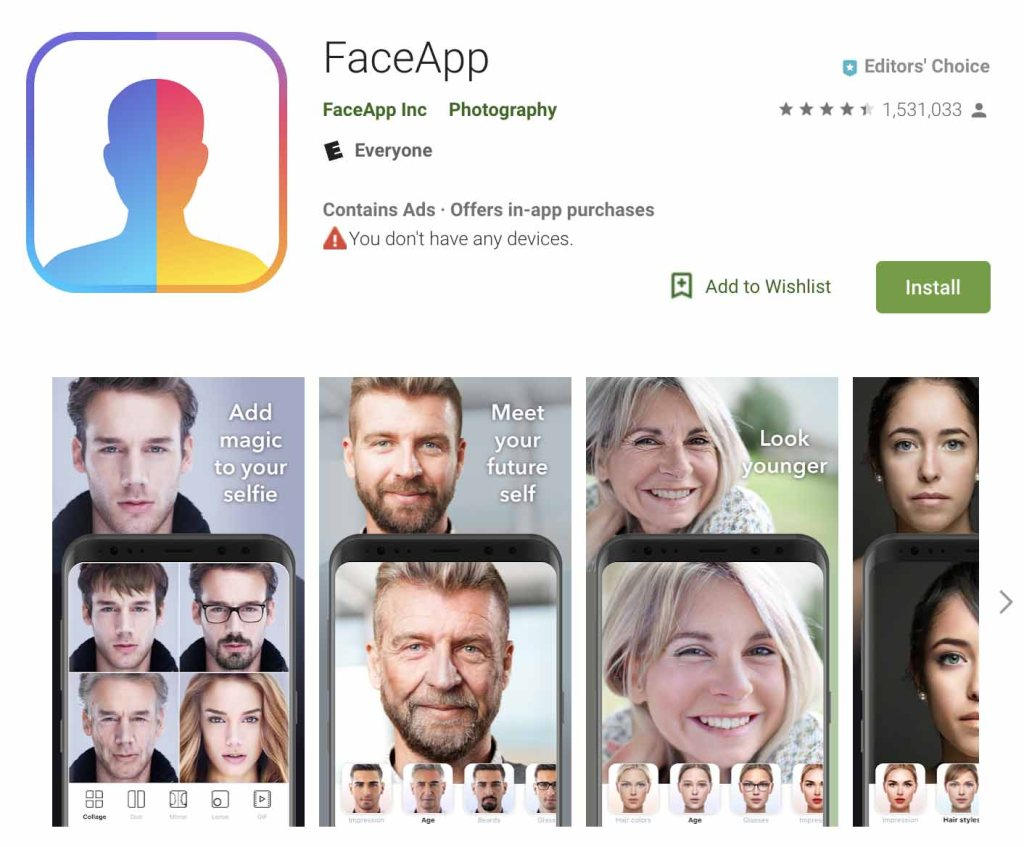 "Every time you use FaceApp, you give a Russian company ""perpetual, irrevocable rights to your photos 1"