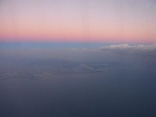ベトナム航空・機内から見た景色