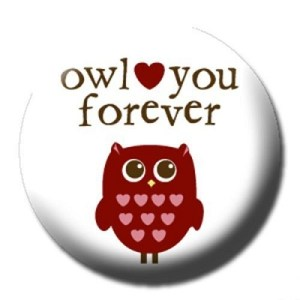 Owl Buttons - Owl Love You Forever Pinback Owl Button