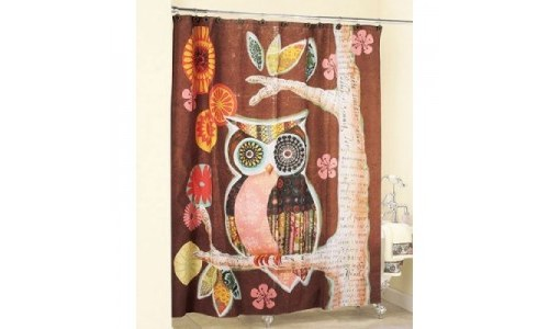 Owl Friend Shower Curtain Owl Decor