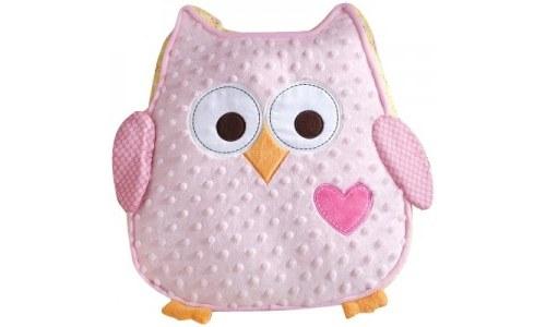 Dena Happi Tree Owl Plush Pillow, Pink