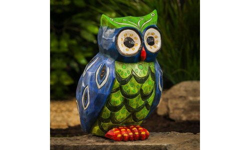 Folksy Friends Popular Buho Owl Garden Statue