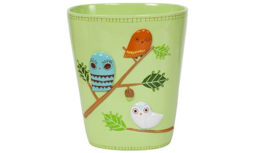 Give A Hoot Ceramic Owl Waste Basket