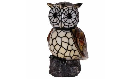 Mosaic Glass Solar Owl Statue