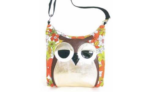 Sleepyville Owl Canvas Cross body Bag
