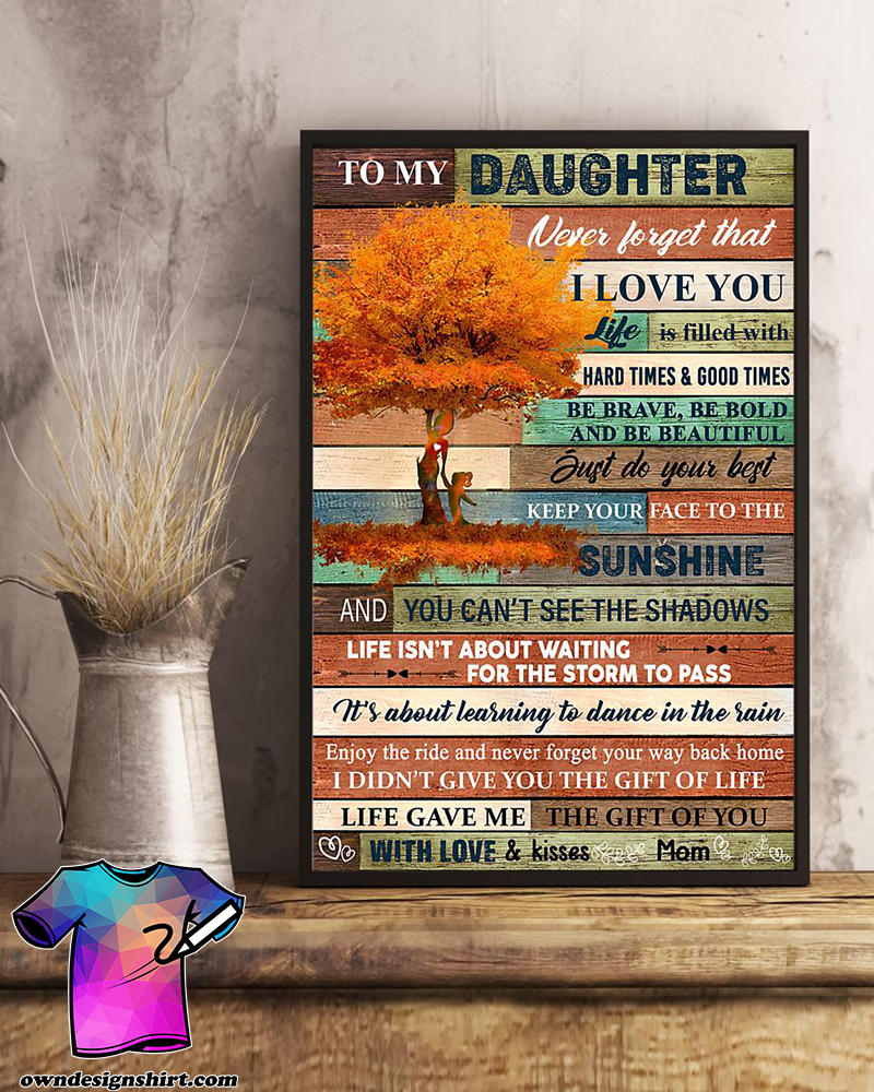 Download Tree fall to my daughter never forget that i love you poster