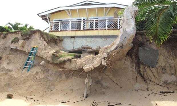 Beachside foundation erosion