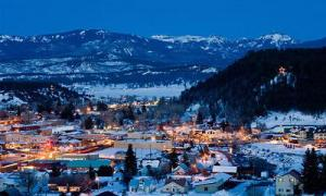Pagosa Springs winter night