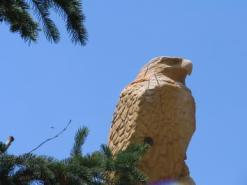 wood eagle sculpture