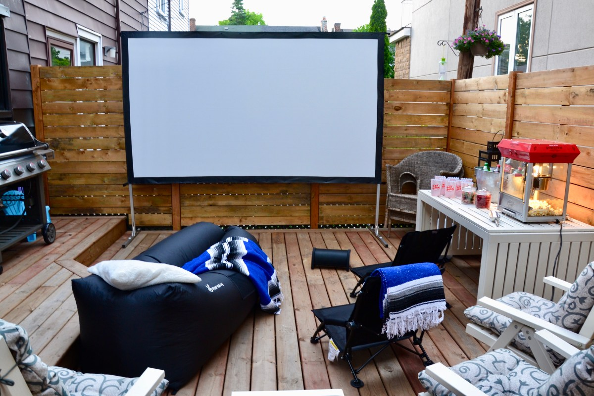 backyard movie night