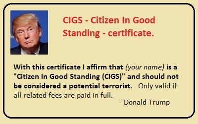 CIGS certificate