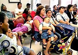 Crowded emergency room