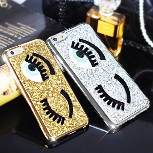 Free-shipping-Fashional-Cover-For-iphone-5-5S-6-6-plus-Flirting-Eyes-Glitter-Brilliant-3D
