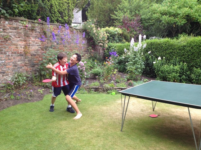 The little brothers won a point against the big brothers, which was then taken away for excessive celebration.