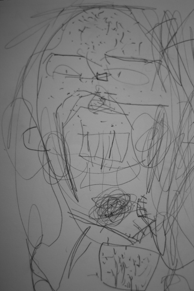 My son's childhood drawing of me.