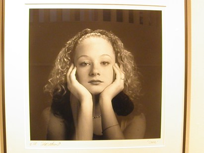 """One of Shirzadian's photos, entitled """"Cara,"""" currently on display on the first floor of the Mowry Alumni Center gallery."""
