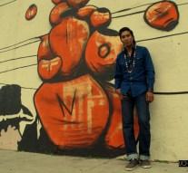 Street artist leaves more than marks