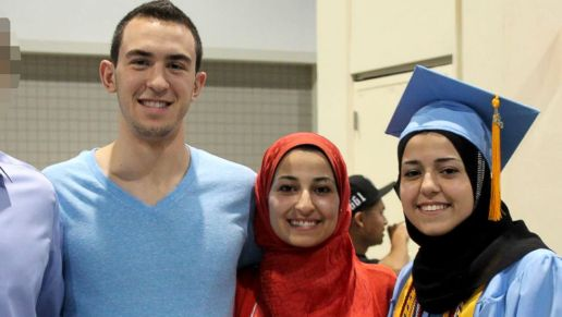 Left to right: Deah, Yusor and Razan. Photo courtesy of abcnews.com.