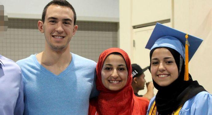 In memory of Deah Barakat, Yusor Abu-Salha and Razan Abu-Salha