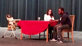 Brooke Waite '16 and Reggie Hemphill '17 rehearse a play for One Acts last year. Photo courtesy of the OWU website.
