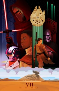 """Alternative poster of """"The Force Awakens"""" created by Chris Ables."""