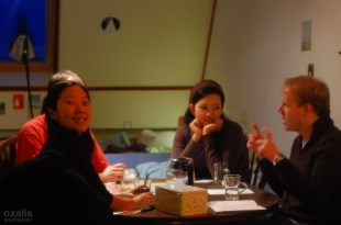 an evening session with indonesian and dutch friends