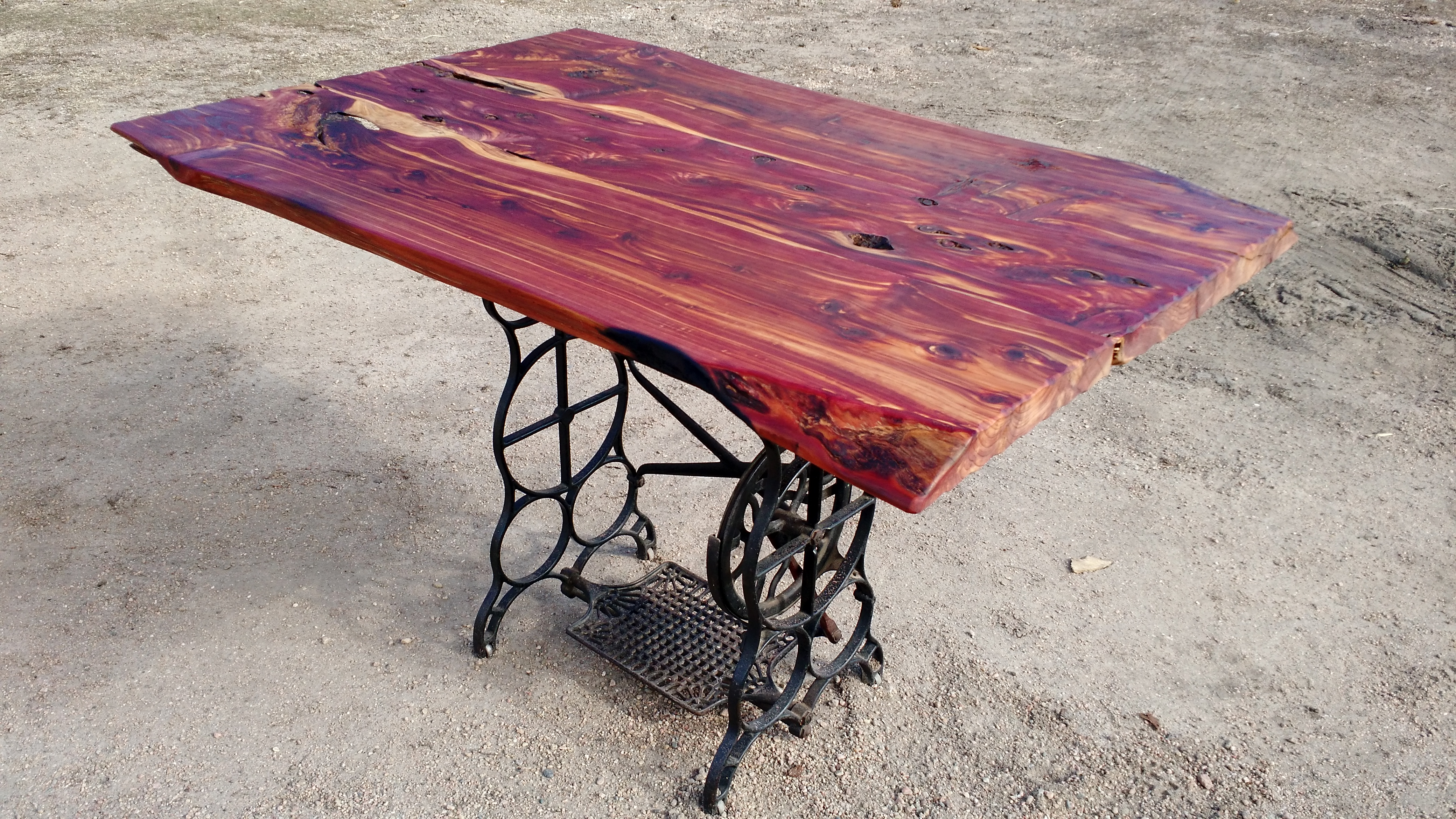 Design Sewing Machine Base Table cedar table with antique sewing machine base oxbows furniture related