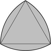 Reuleaux triangle: Non-circular shape that has equal width in all directions