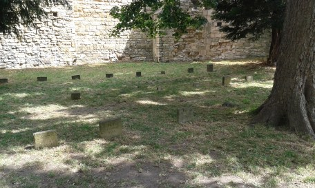 The graves of prisoners