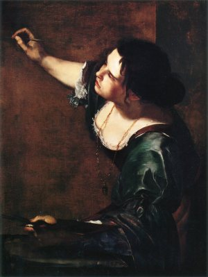 Artemisia Gentileschi, July 8, 1593. Just brilliant. Also look at the shape her arms are making.
