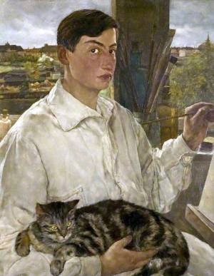 Self-portrait with Cat, Lotte Laserstein (Nov.28)