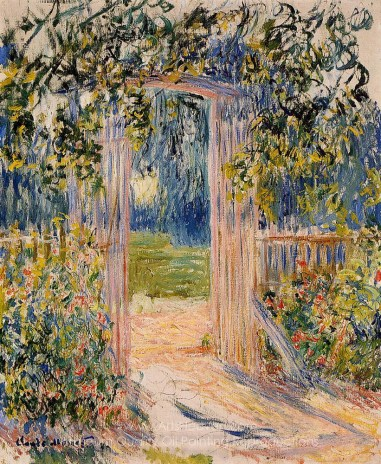 The Garden Gate. Claude Monet