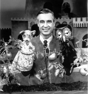 Fred Rogers, cardigan wearer, puppeteer, neighbour