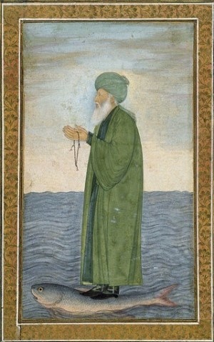 An Ottoman image of Al Khidr, the Green One