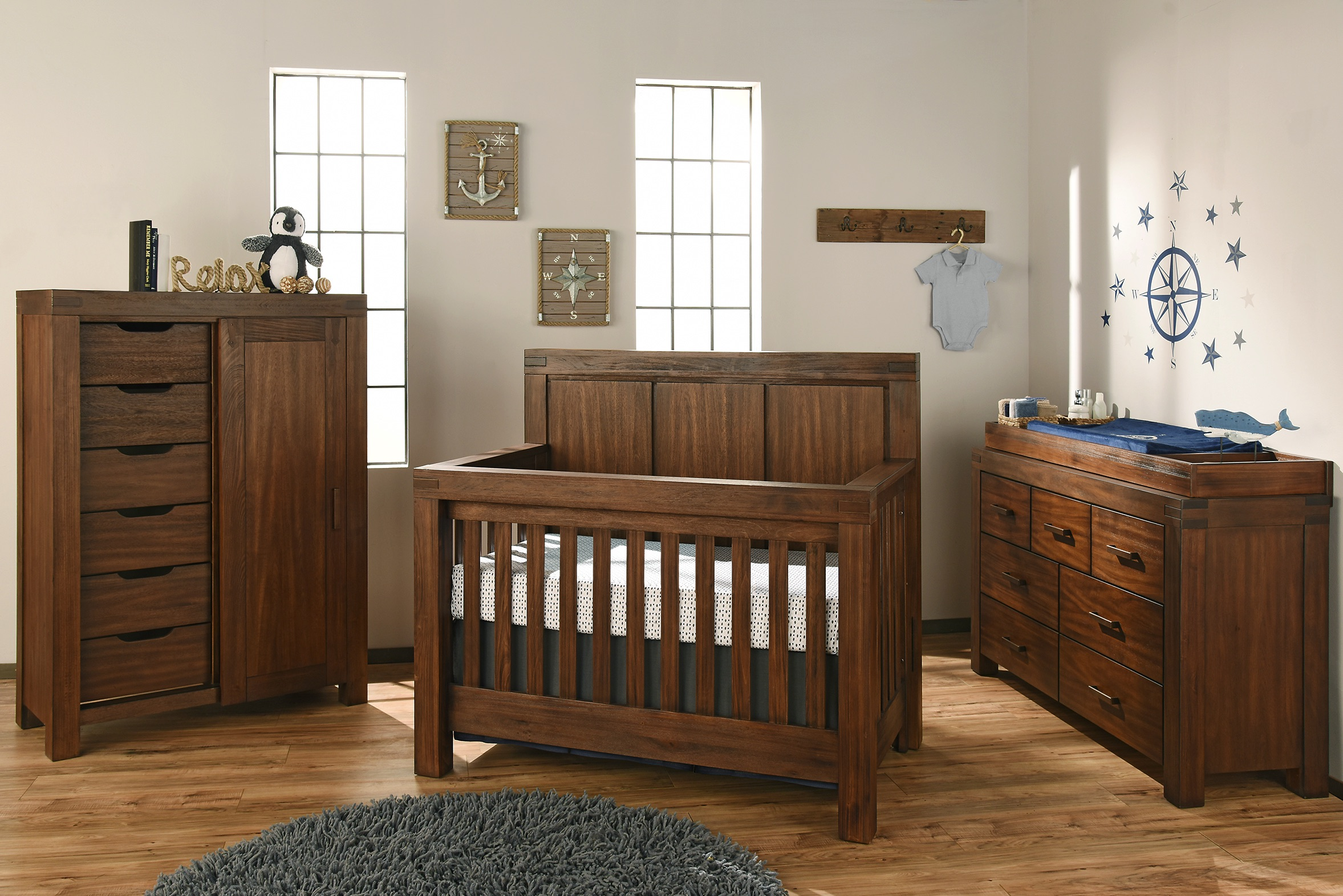 Piermont Rustic Farmhouse Brown Collection Oxford Baby