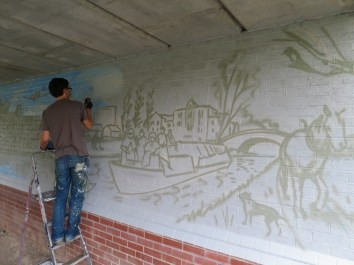 Oxford Canal Mural Painting Days (4)