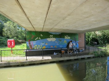 Oxford Canal Mural Painting Days (59)