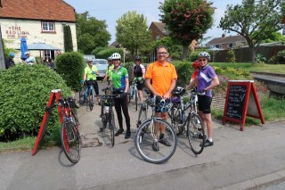 As well as enjoying pub lunches, we also ride our bikes