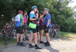 Ice-cream stop, 26k to go