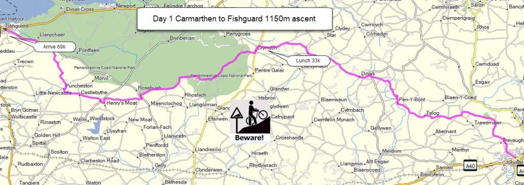 carmarthen fishguard 69km