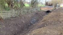 Cleared ditch