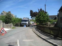 Sewer clearing South Hinksey, June 2013
