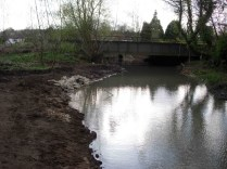 Hinksey Drain. Culvert under the railway now cleared and channel on towards Hinksey Stream opened up.